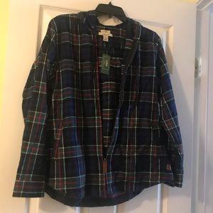LL Bean hooded flannel